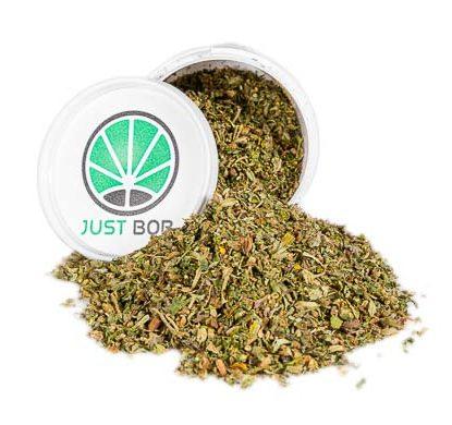 sieved bubblegum Krug Cannabis cbd Blüten Justbob