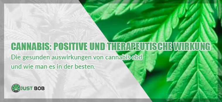 Cannabis- positive und therapeutische Wirkung