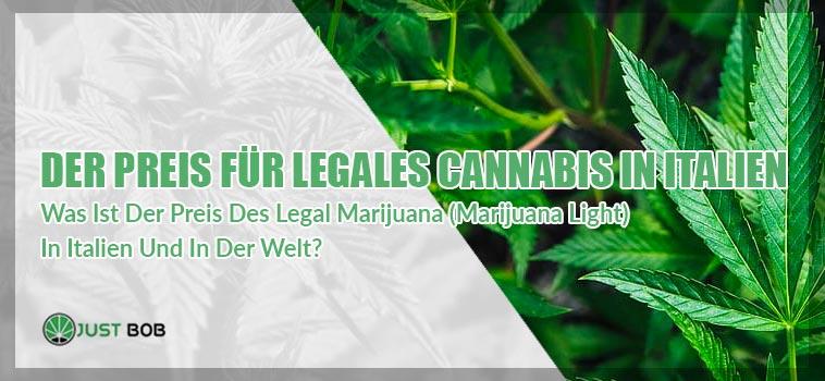 preis legales Cannabis in Italien