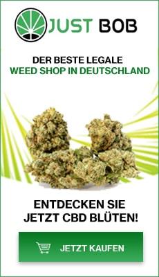 Banner Justbob Der beste legale weed shop in Deutschland