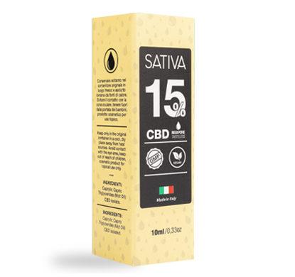 Becher von CBD Öl 10 ml bis 15% - Sativa