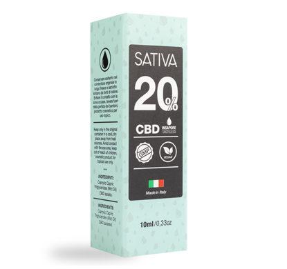 Becher von CBD Öl 10 ml bis 20% - Sativa