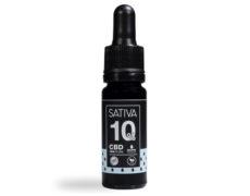 Flasche von CBD Öl 10 ml bis 10% - Sativa