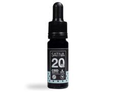 Flasche von CBD Öl 10 ml bis 20% - Sativa