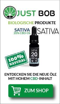 Banner Justbob Sativa cbd Öl