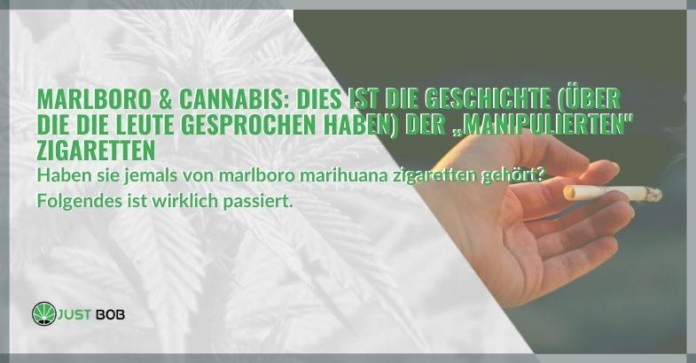 """Marlboro & Cannabis: Dies ist die Geschichte (über die die Leute gesprochen haben) der """"manipulierten"""" Zigaretten"""