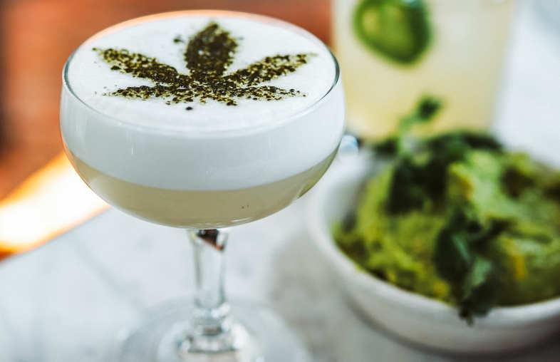 Marihuana-Blattgetränk