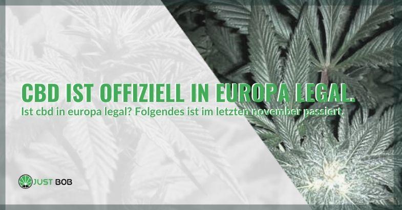 CBD wurde endlich offiziell in Europa legalisiert