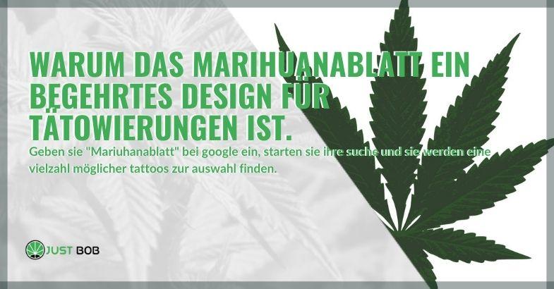 Marihuana-Blatt-Design: Warum ist es für Tätowierungen gefragt?