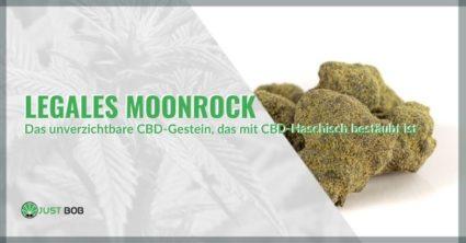 MoonRock Legal Marihuana mit CBD-Haschisch bestäubt