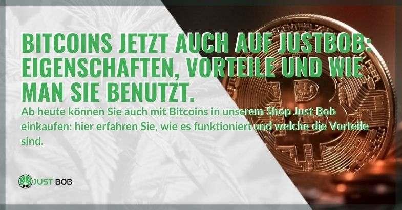 Jetzt können Sie legales Cannabis mit Bitcoins auch auf Justbob kaufen