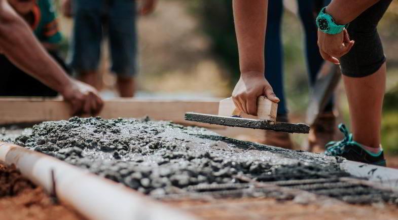 Hanf im Bauwesen: Verwendung von Beton.