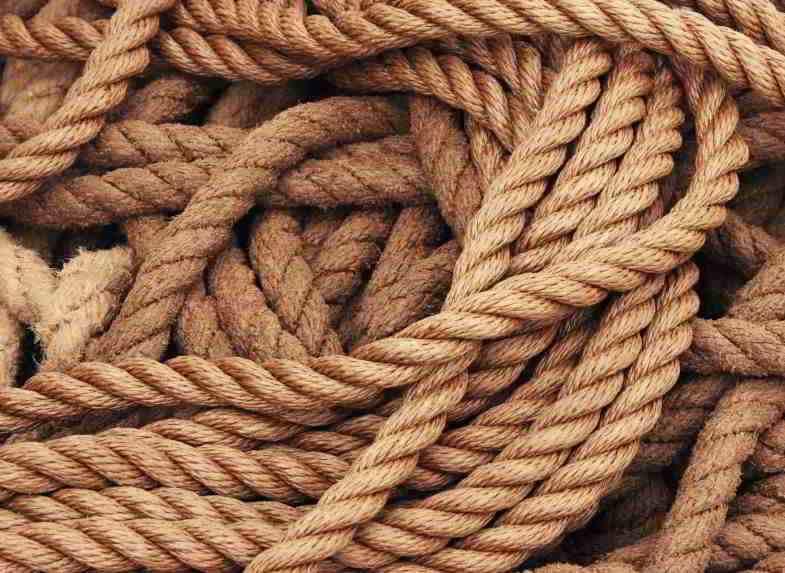 Hanf im Textilbereich zur Herstellung von Seilen